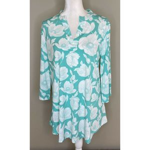 NWT MOUNTAIN MAMAS Floral Long Sleeve Silky Top XL